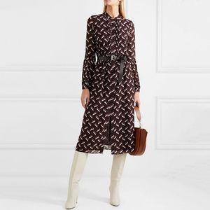 Michael Kors Chevron Midi Career Dress Workwear XL